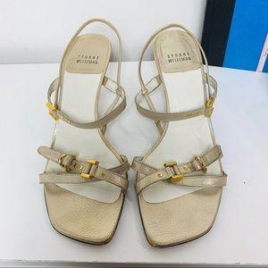 Vintage Stuart Weitzman Rose Gold Sandals Size 8